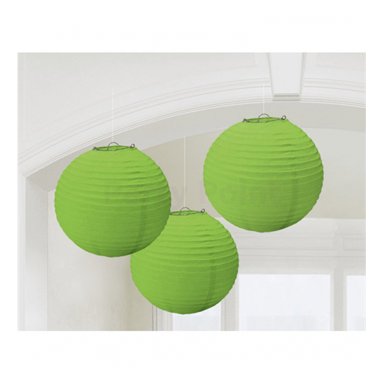 Zöld színű lampion 20,4 cm 3 db/cs