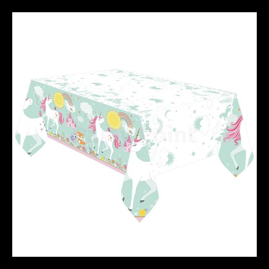 Unikornisos műanyag asztalterítő 137x259