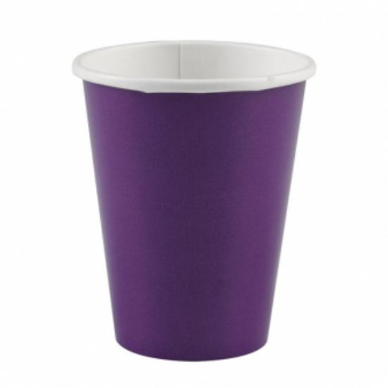 Sötétlila pohár 250 ml 8 db/cs