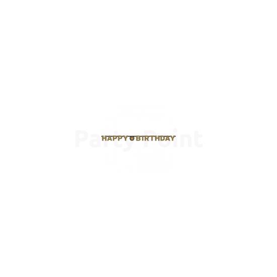 Happy Birthday arany prizmás betűfelirat