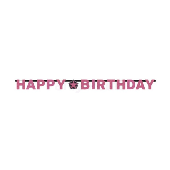 Happy Birthday pink betűfelirat