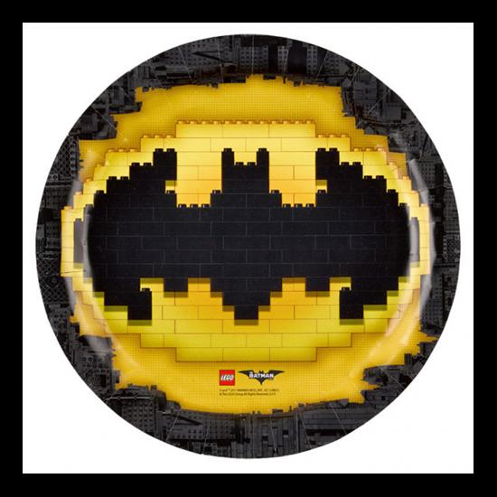 Lego Batmann tányér 23 cm 8 db/cs