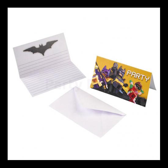 Lego Batmann meghívó 8 db/cs