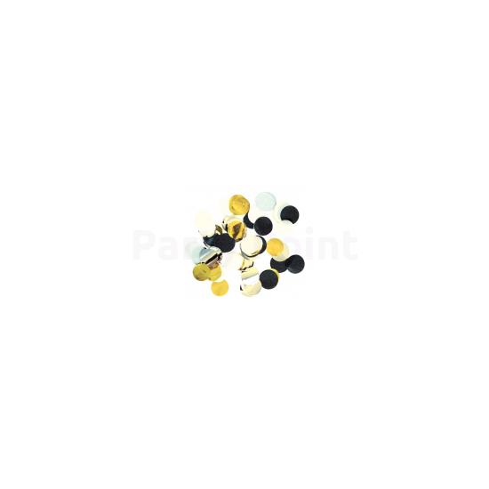 Kerek arany-ezüst-fekete konfetti 15 gr./cs