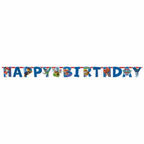 Happy Birthday Mancs őrjárat zászló 180x15cm