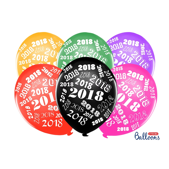 30 cm-es 2018  metál mix gumi lufi 50 db/cs