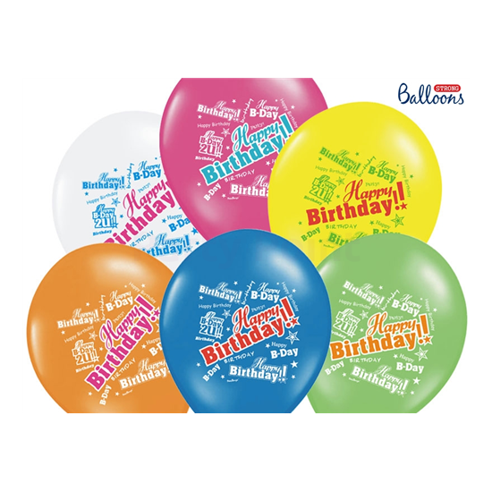 30 cm-es Happy Birthday gumi lufi 50 db/cs