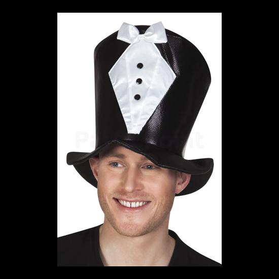 Fekete nyakkendős kalap