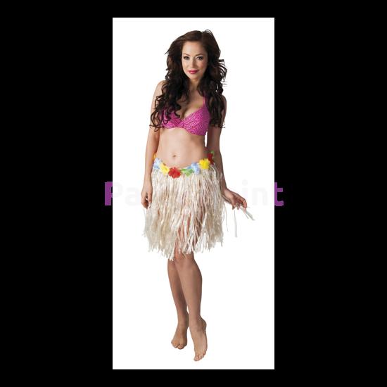 Rövid testszínű hawaii szoknya, 45 cm