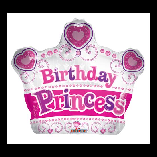 Birthday Princess korona fólia lufi