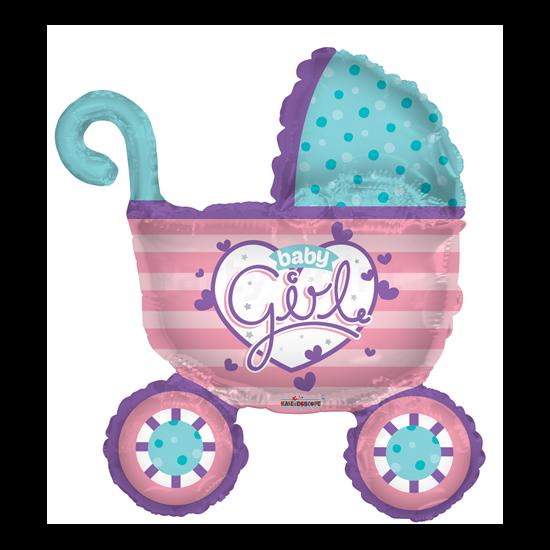 pink Baby Girl babakocsi fólia lufi