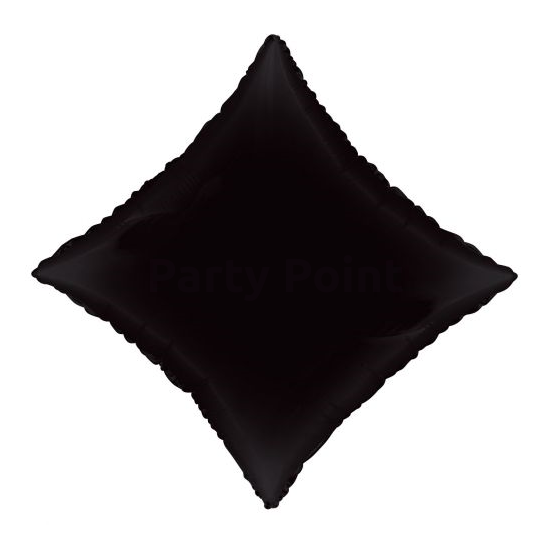 45 cm-es rombusz alakú fekete fólia lufi