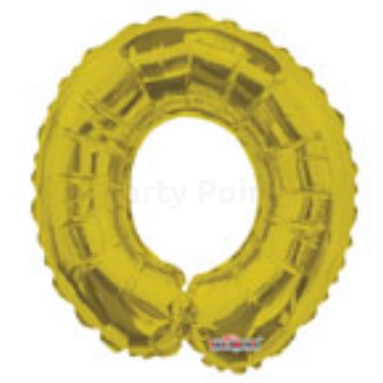 35cm-es arany szám fólia lufi 0