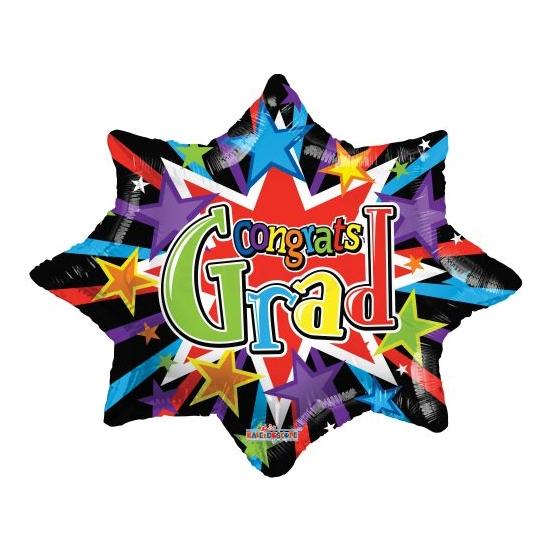 70 cm-es Congrats Grad csillag fólia lufi