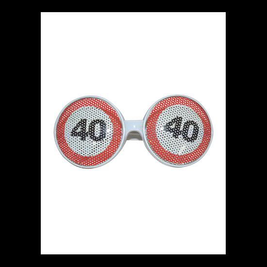 Behajtani tilos szemüveg 40. születésnapra