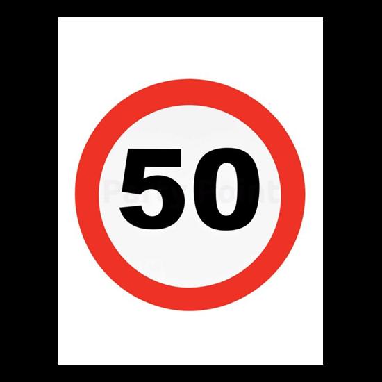 Behajtani tilos fali dekoráció 50.születésnapra