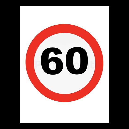 Behajtani tilos fali dekoráció 60.születésnapra
