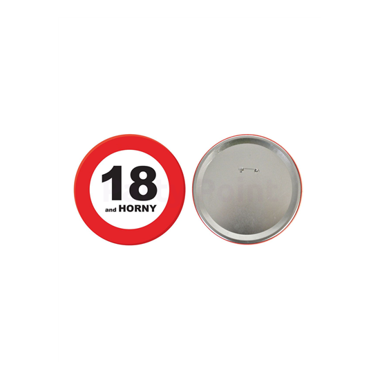 Behajtani tilos kitűző 18.születésnapra 15cm