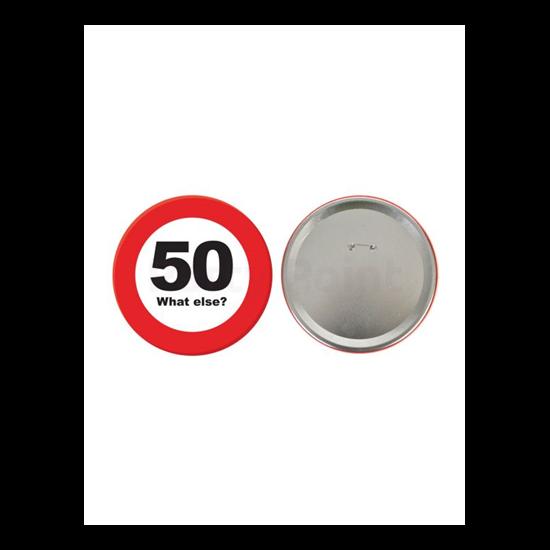 Behajtani tilos kitűző 50.születésnapra 15cm
