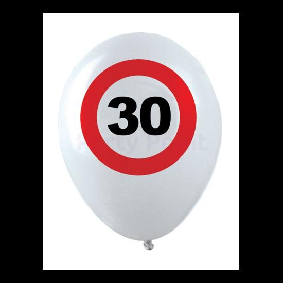Behajtani tilos 30. születésnapra gumi léggömb 12db/cs