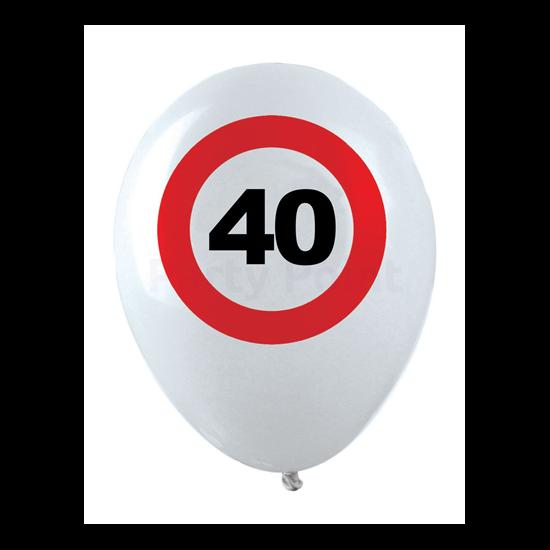Behajtani tilos 40. születésnapra gumi léggömb 12db/cs