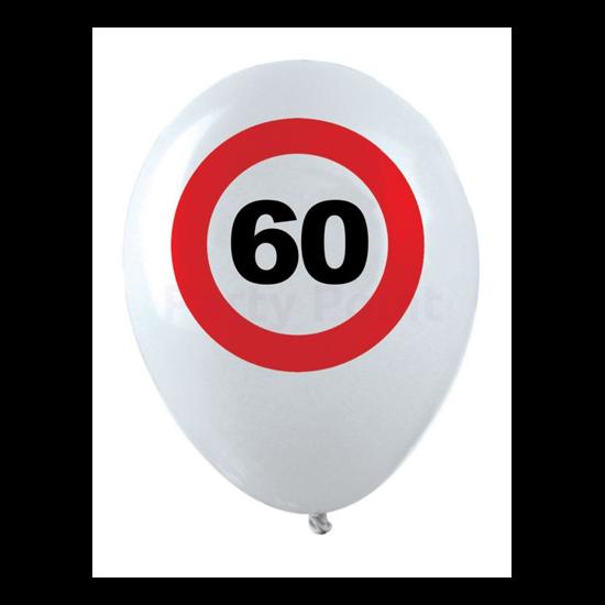 Behajtani tilos 60. születésnapra gumi léggömb 12db/cs