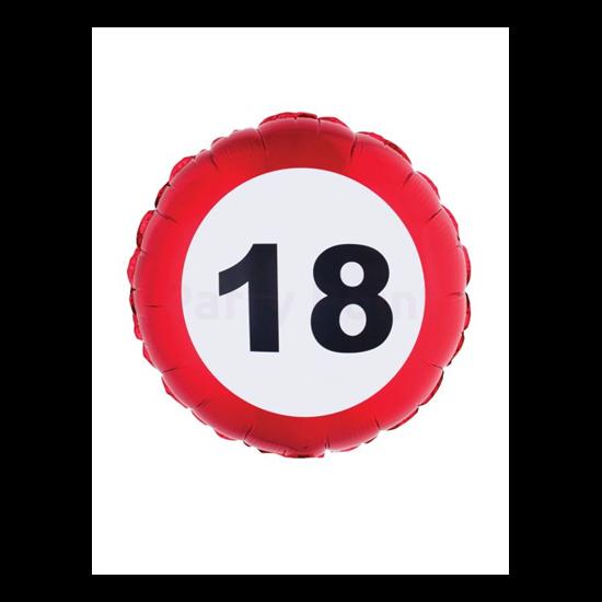 46 cm-es behajtani tilos 18. születésnapra fólia lufi