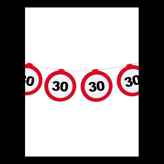Behajtani tilos 30.születésnapra girland 12 m-es