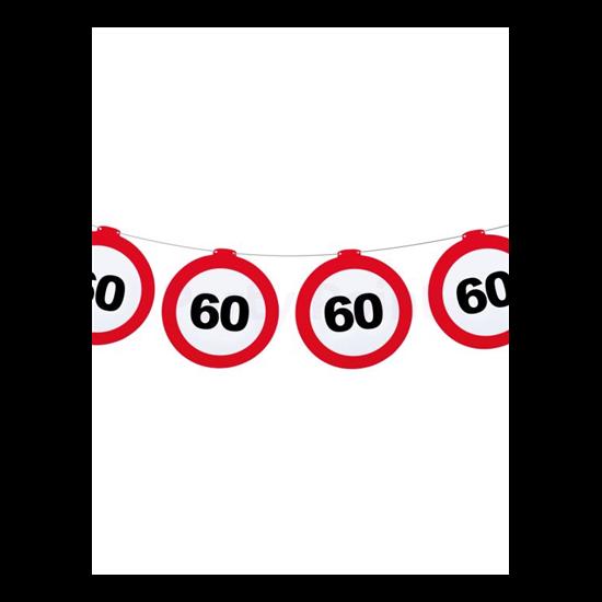Behajtani tilos 60.születésnapra girland 12 m-es