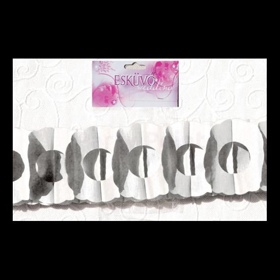 Fehér virág girland 400 x 17 x 12 cm