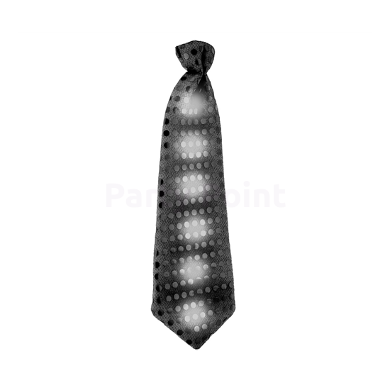 Flitteres fekete nyakkendő