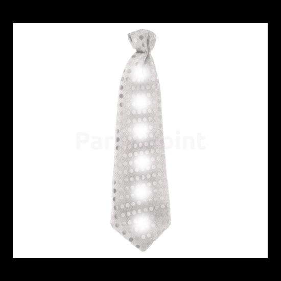Flitteres ezüst nyakkendő