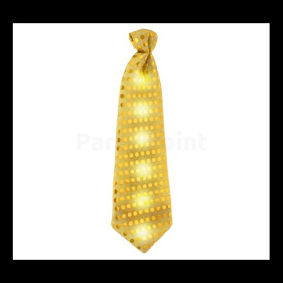 Flitteres arany nyakkendő