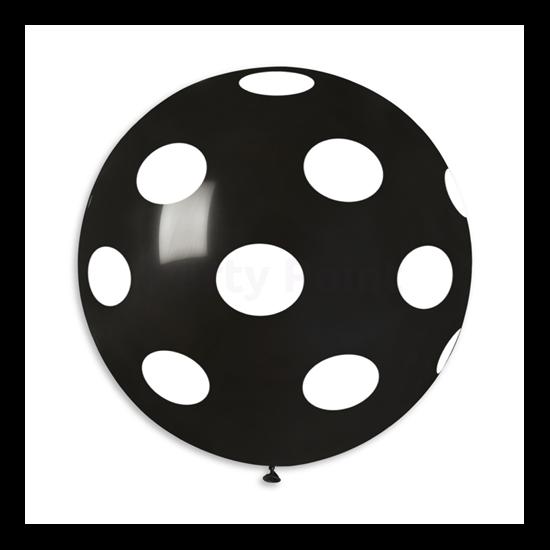 80 cm-es fehér pöttyös fekete gumi lufi
