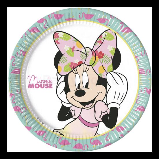 Minnie Tropical 23 cm-es papír tányér 8 db/cs