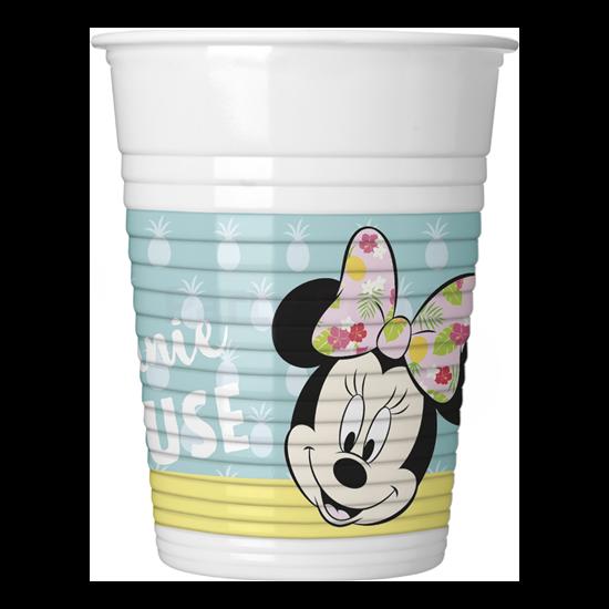 Minnie Tropical műanyag pohár 200 ml,8 db/cs