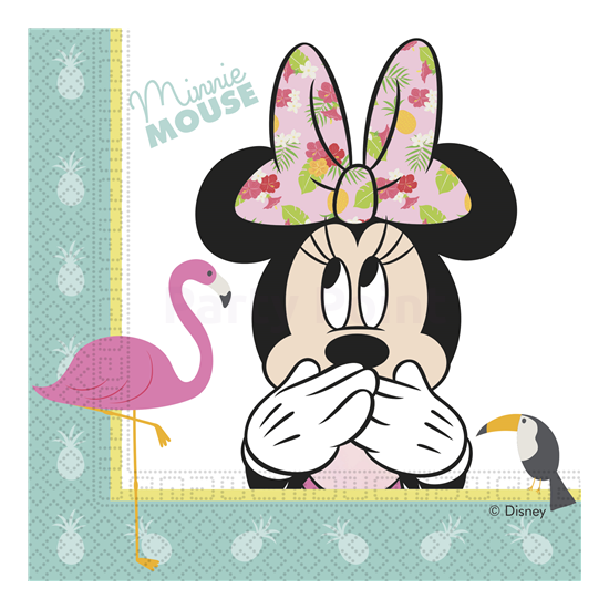 Minnie Tropical szalvéta 33 x 33 cm 20 db/cs