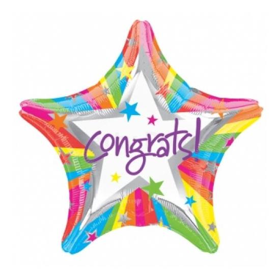 45 cm-es Congrats! csillag alakú fólia lufi