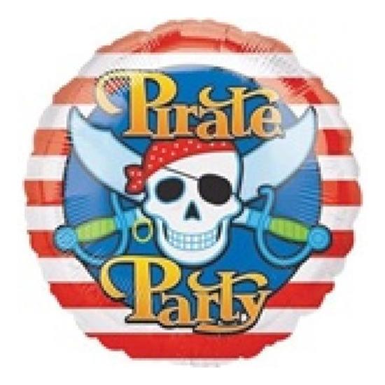 45 cm-es Pirate Party fólia lufi