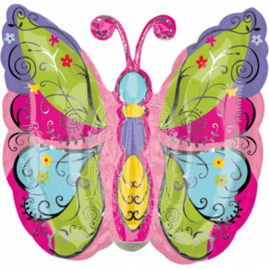 Mini - Pillangó fólia lufi