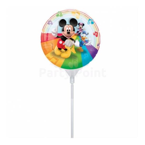23 cm -es Mickey fólia lufi, pálcával -csészével