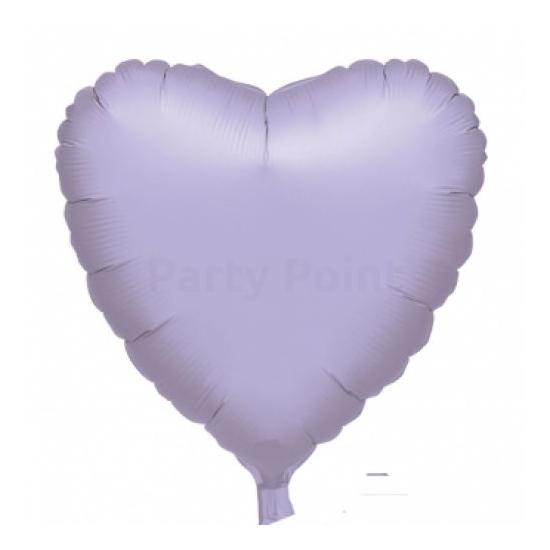 45 cm-es metál lila szív alakú fólia lufi