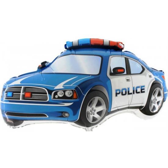 Super Rendőrautó kék O. fólia lufi