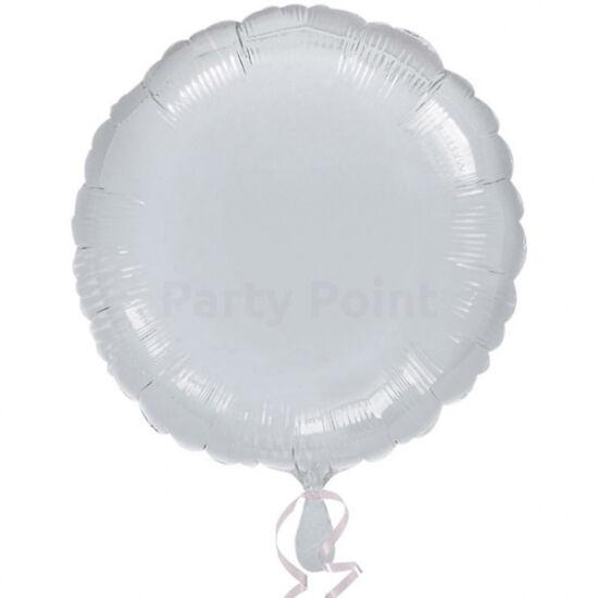 45 cm-es Solid Color ezüst színű, kerek fólialufi