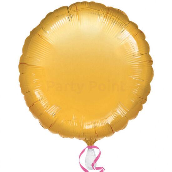45 cm-es Solid Color arany színű, kerek fólialufi