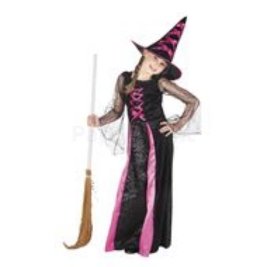 Boszorkány jelmez gyermek 10-12év