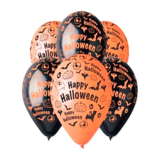 30 cm-es Happy Halloween printelt léggömb 100 db/cs.
