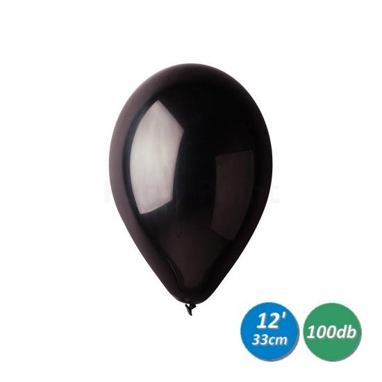 33 cm-es fekete gumi léggömb 100 db/cs