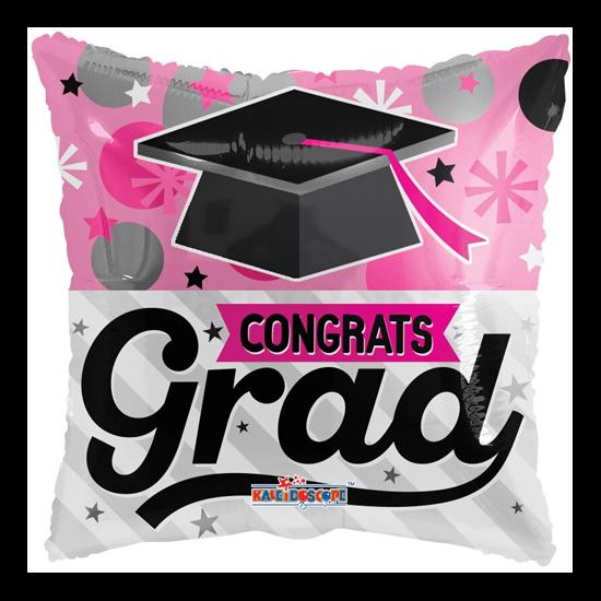 45 cm-es Pink congrats grad fólia lufi