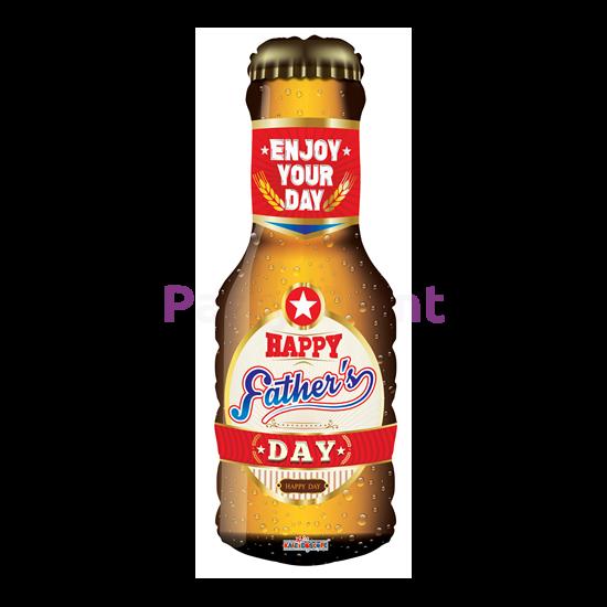 SuperShape - Happy Father's day, sörösüveg alakú fólia lufi